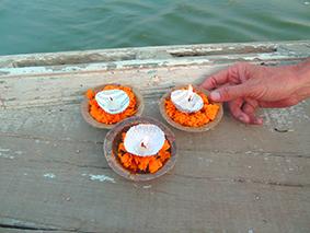 Offering Flames to Ganga Ma, Ganges, Varanassi, India