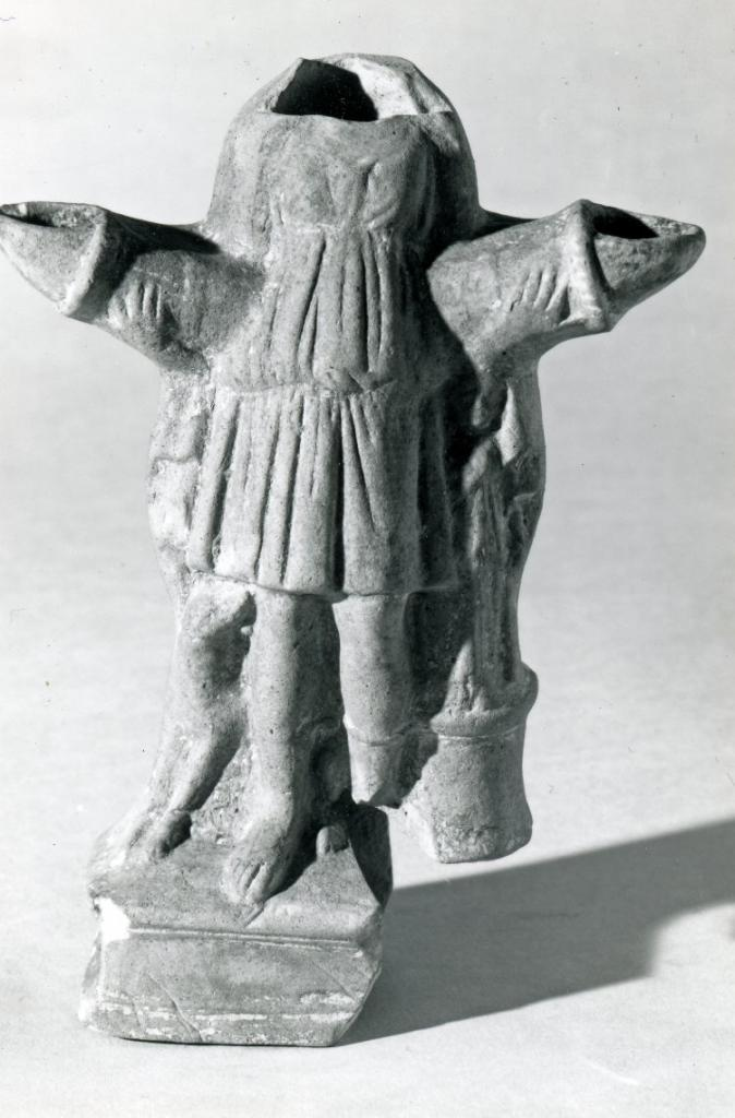 (Image - damaged oil lamp in the shape of Hekate, from Knidos (Turkey), circa 100BC-51BC ) © The Trustees of the British Museum)