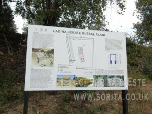 Information board at the Temple of Hekate, Lagina, Photo by Sorita d'Este.