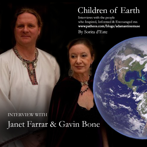 Janet Farrar and Gavin Bone interviewed for Children of Earth by Sorita d'Este on Adamantine Muse Pagan Patheos