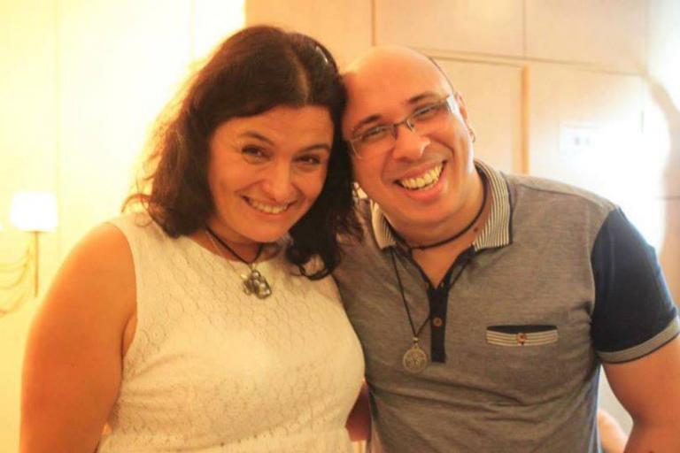 Sorita d'Este and Claudiney Prieto, in Sao Paolo, Brazil - 2014 (Conferência de Wicca e Espiritualidade da Deusa)