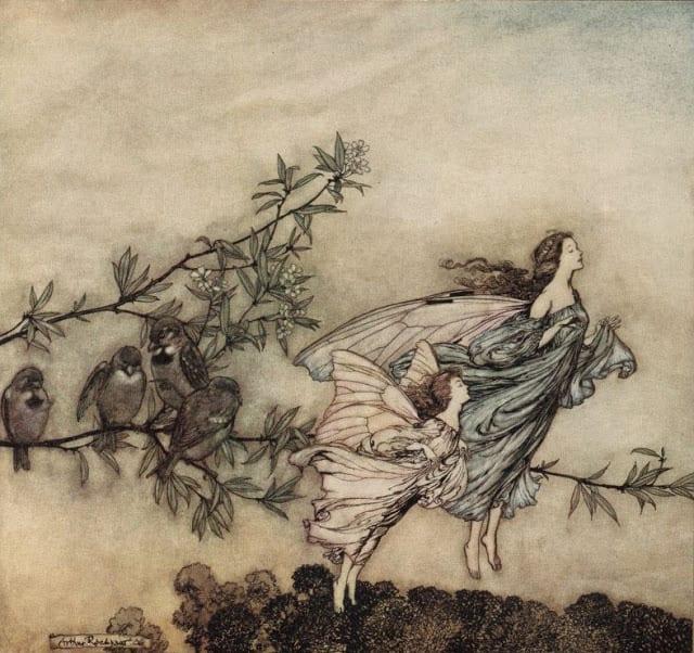 From Peter Pan in Kensington Gardens, illustrated by Arthur Rackham.
