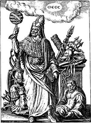 Image of the magician and alchemist Hermes Trismegistus.