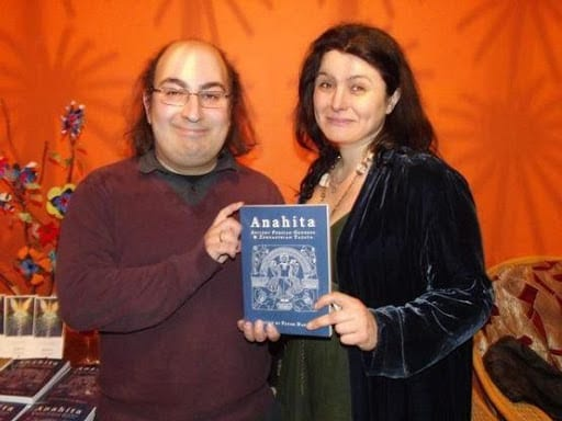 Payam Nabarz with Sorita d'Este at the launch party for his book Anahita Anthology (Oxford)