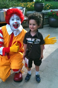 You should have seen Ran's face when Ronald came out to visit at our welcome BBQ!