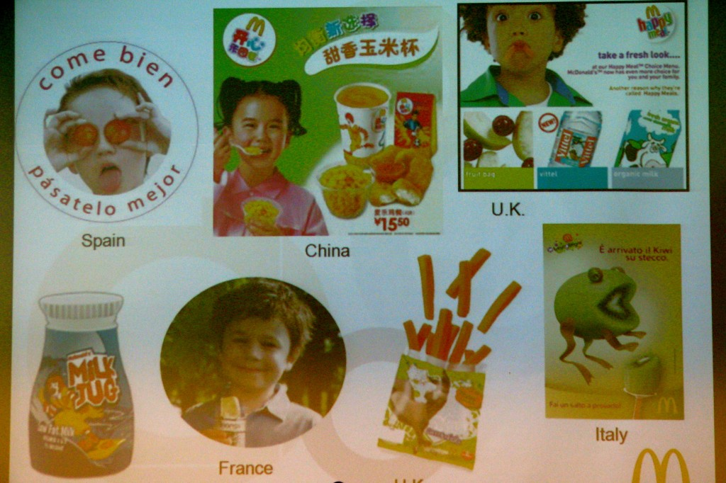 The Marketing to help kids choose fruits/veggies in other  countries.  Man, I wish we could get some Kiwi in the U.S.!