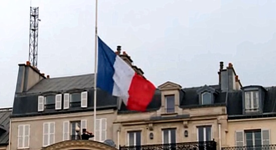 French flag half staff--cropped 2