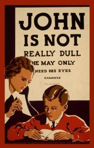 John is not dull vintage poster