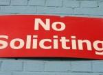 No Soliticing sign