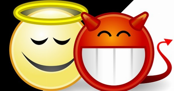 Angel and devil smilies