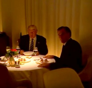 Mitt Romney grovelling at dinner with Trump