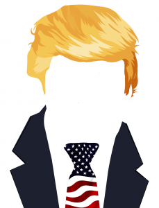 Trump with flag tie