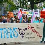 Trans Solidarity & anti-transphobia banner