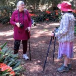 Attempting to speak to Joella on a recent garden hike. Via Keith Onstad.