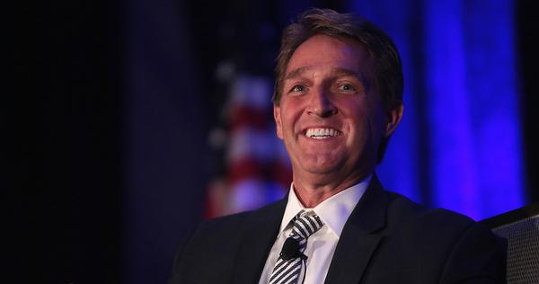 'Country over party' tweets GOP Trump critic Jeff Flake. C'mon, ya gonna let a rightwinger claim the moral high ground over you?