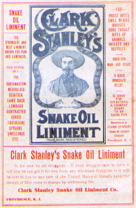 The original snake oil, public domain.