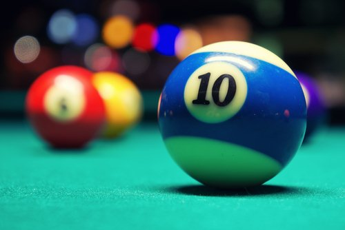 Pool Table Balls Scattered Racking Up My Balls So...