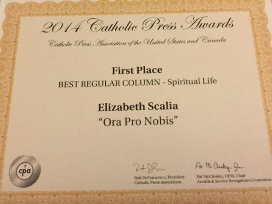 Ora pro nobis award
