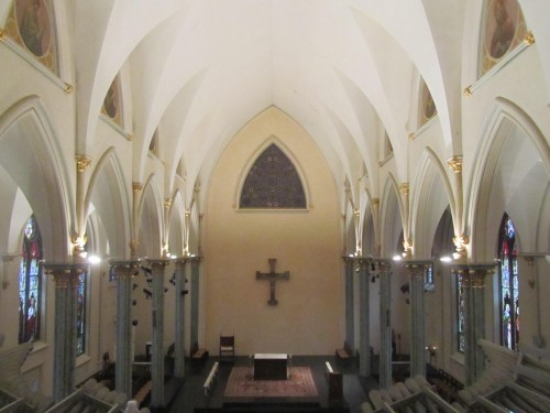 Oratory Church of St. Boniface, Brooklyn, view from organ loft