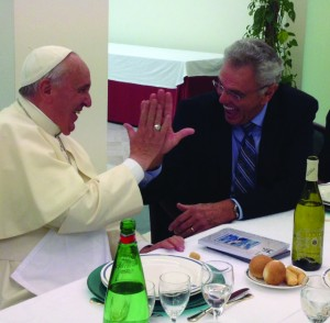 Robison and Pope Francis, image courtesy of Life Today