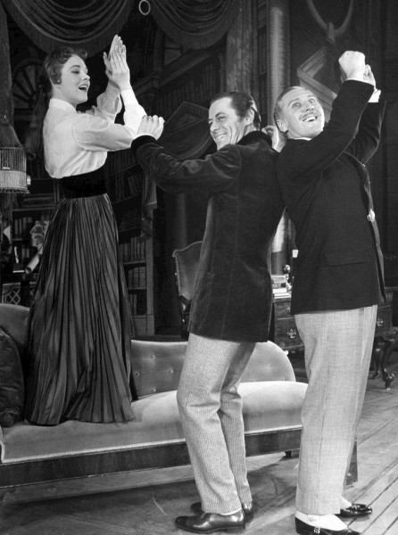 Eliza, Henry and Col. Pickering dance for the rain in Spain/Public Domain