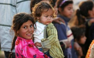 Iraqi refugee children in Syria/James Gordon, Wikimedia Commons
