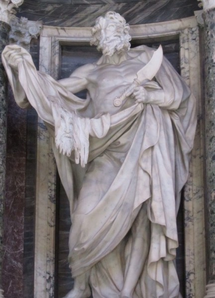 St. Bartholomew, Lateran Basilica, Rome/Elizabeth Scalia