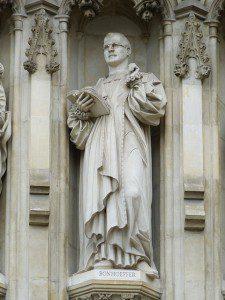 Statue of Bonhoeffer in Westminster Abbey, London