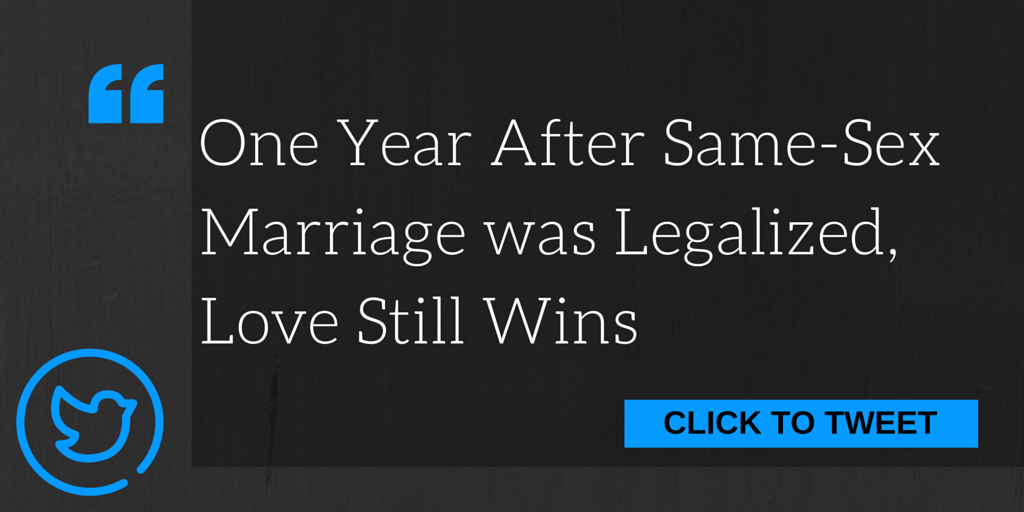Celebrating Same-Sex Marriage One Year Later
