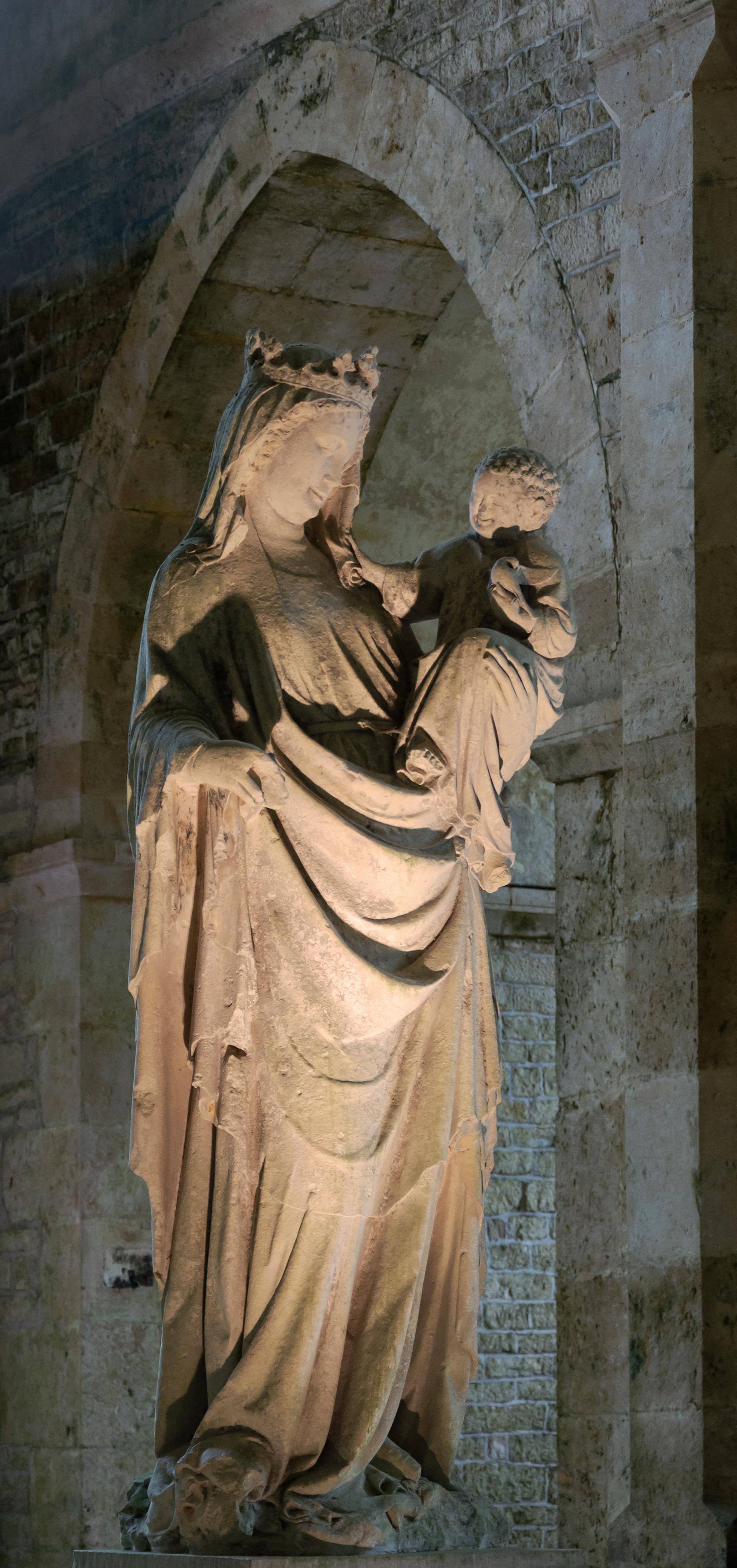 Vierge à l'Enfant, Abbaye de Fontenay (Marmagne, Côte-d'Or, Bourgogne, France)