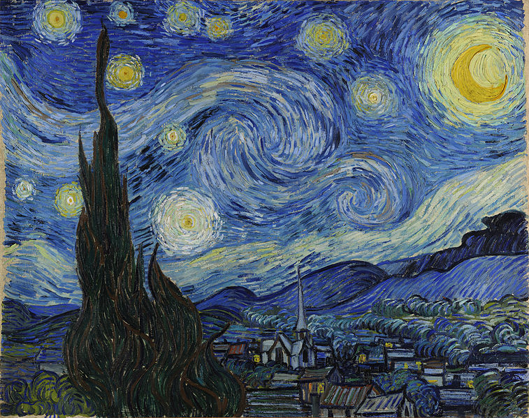 Artist Vincent van Gogh (1853–1890) Title	The Starry Night   Date	1889 Source Wikimedia Commons, Public Domain