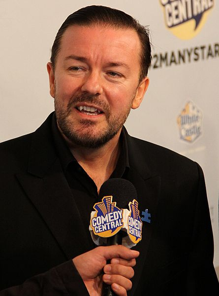"Description Ricky Gervais at Comedy Central's ""Night of Too Many Stars"" in 2010. Date 2 October 2010, 18:20 Source Ricky Gervais at Comedy Central's ""Night of Too Many Stars"" Author Thomas Atilla Lewis at http://www.flickr.com/people/51761894@N00 (CC BY-SA 2.0)"