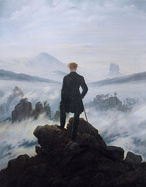 Artist: Caspar David Friedrich (1774–1840)  Title: The wanderer above the sea of fog Date1818