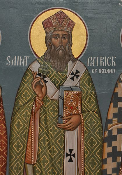 "Description English: Icon of Saint Patrick from Christ the Saviour Church Date	4 May 2011, 15:06:16 Source	https://www.flickr.com/photos/frted/5692057805 Author	bobosh_t AKA ""Father Ted"" on Flickr, Christ the Saviour Church (CC BY-SA 2.0)"