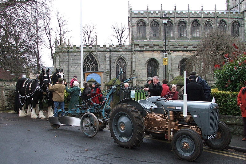 Description Plough Sunday gathering outside a village Church in Tickhill, Yorkshire, Great Britain Date 11 January 2009 Source Own work Author John Cowie (CC BY 3.0)
