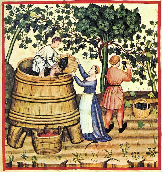 Description Tacuina sanitatis (XIV century) 9-autunno,Taccuino Sanitatis, Casanatense 4182. Date	14th century Source	book scan Author	unknown master