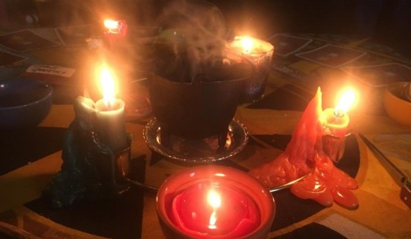 Magickal Altar with 4 elements