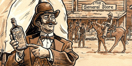 Snake Oil Salesman - Public Domain