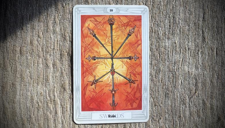 Ten of Swords: Ruin