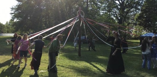 Maypole Dance 2016 with The Sojo Circle Coven Photo used with permission