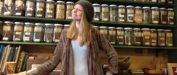 Heron at her Metaphysical Shop