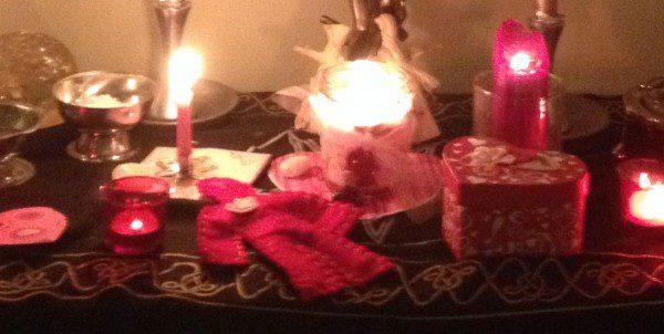 Velentine's Love Spell Altar by Heron Michelle
