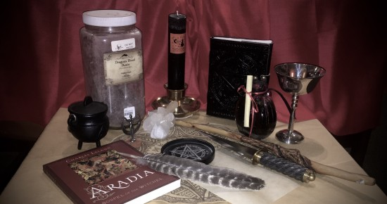 The glittering hoard of goods at a Witchy Shop. Photo by Heron Michelle