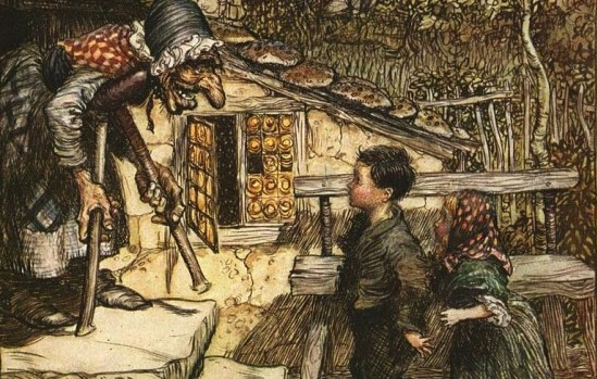 Hansel and Gretel, Illustration by Arthur Rackham, 1909. Public Domain, Wikimedia Commons