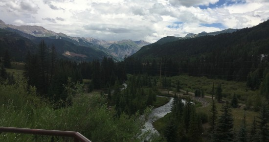 Telluride Colorado view of stream among the mountains