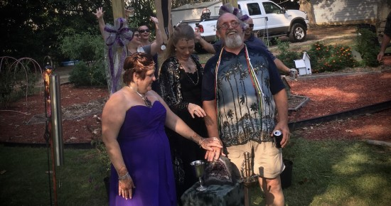 Hand Fasting of Clare and Buddy Hobby, Sept. 10, 2016 Photo used with Permission