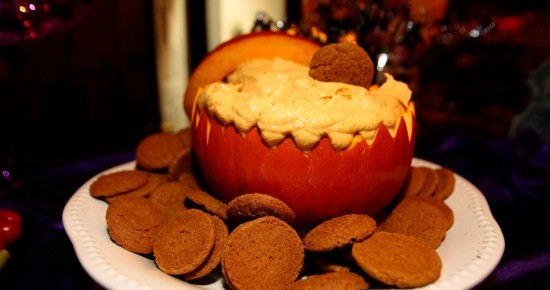 Pumpkin Fluff with Ginger Snaps - Photo by Aileen Devlin, used with Permission