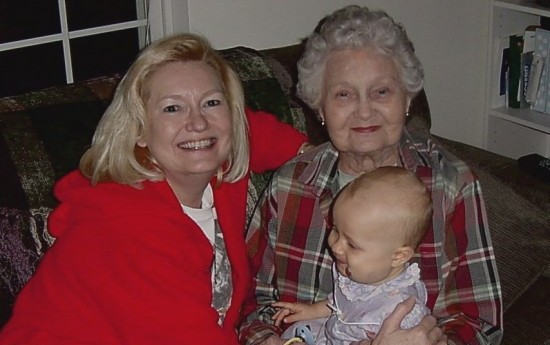Sondra, Frances and my baby daughter, 2003