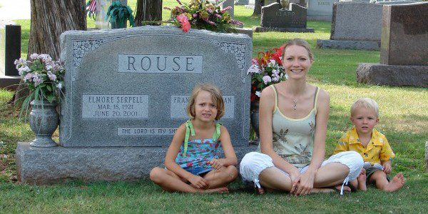 Visiting our family graves in June of 2007