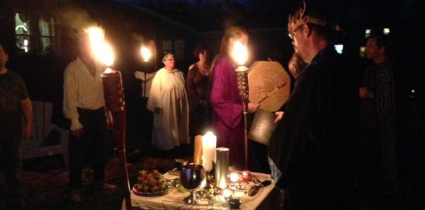 A Sojo Circle ritual outdoors. Photo used with permission
